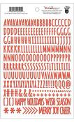 Wish Season Puffy Alpha Red Stickers - Fancy Pants