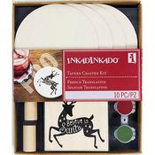 "Holiday Tavern Coasters - Inkadinkado Stamping Kit 6""X7"""