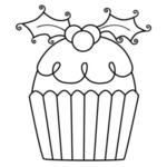 """Cupcake - Gourmet Rubber Stamps Cling Stamps 2.75""""x4.75"""""""