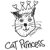 """Cat Princess - Gourmet Rubber Stamps Cling Stamps 2.75""""X4.75"""""""