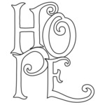 "Hope - Gourmet Rubber Stamps Cling Stamps 6.5""x3.25"""