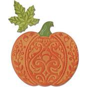 """Harvest Pumpkin - Sizzix Bigz Die W/Bonus Textured Impressions 5.5""""X6"""""""