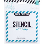 "Insta Patterns - Heidi Swapp Mixed Media Stencil Minis & Cardstock 4""X4"" 6ea"