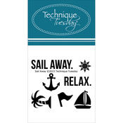 "Sail Away - Technique Tuesday Clear Stamps 2""X2.5"""