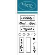 "Planner-Priority - Technique Tuesday Clear Stamps 2""X4"""