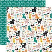 Cat Icons Paper - Meow - Echo Park