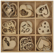 Love Wooden Shapes - Lucky Dip - KaiserCraft