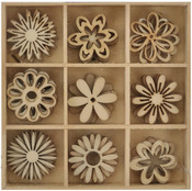 Flower Wooden Shapes - Lucky Dip - KaiserCraft