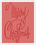 Fancy Christmas Sizzix Texture Fades A2 Embossing Folder - Tim Holtz Alterations