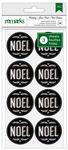 Chalkboard Noel Holiday Remarks Envelope Seals - American Crafts