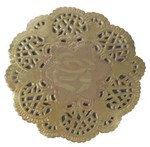 Round Gold Paper Doilies - Prima