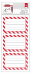 Candy Stripe Holiday Remarks Lined Labels - American Crafts