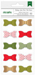 Holiday Remarks Fabric Ribbon Bows - American Crafts