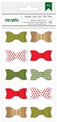 Holiday Remarks Fabric Ribbon Bows - American Crafts
