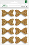 Gold Holiday Details Glitter Bows - American Crafts