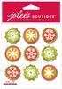 Snowflakes Baubles Epoxy Embellishments - Jolees Christmas