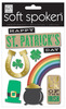 Luck Of The Irish Embellishment Stickers - Soft Spoken - Me And My BIG Ideas Me & My Big Ideas-So Spoken Themed Embellishments. Perfect for all your paper crafting projects! This package contains an Irish theme: nine embellishment stickers on one 5-3/4x4-1/2 inch backing sheet. Comes in a variety of themes. Each sold separately. Imported.