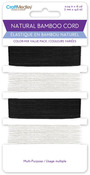 Black & White Natural Bamboo Cord Value Pack - Craft Medley