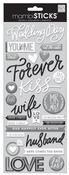 Wedding Day Puffy Essential Stickers - MambiSticks