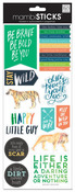 Stay Wild Cardstock Stickers - MambiSticks