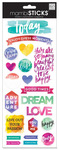 Painted Carpe Diem Cardstock Stickers - MambiSticks