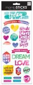 Painted Carpe Diem Cardstock Stickers - MambiSticks