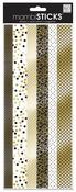 Gold Black & White Border Foil Stickers - MambiSticks