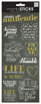 Always Be Chalk Cardstock Stickers - MambiSticks