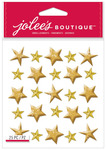 Gold Stars Dimensional Stickers - Jolees Christmas