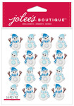 Snowmen Repeat Glitter Dimensional Stickers - Jolees Christmas