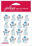 Snowmen Repeat Glitter Dimensional Stickers - Jolees Christmas