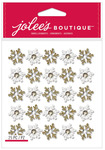 Gold & White Snowflake Repeat Dimensional Stickers - Jolees Christmas