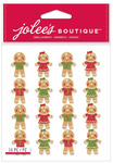 Gingerbread Men & Women Glitter Repeat Stickers - Jolees Christmas