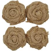Natural Self-Adhesive Burlap Flowers - Lucky Dip - KaiserCraft