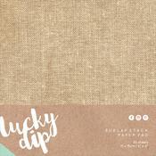 Burlap Stack 6 x 6 Paper Pad - Lucky Dip - KaiserCraft