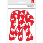 Chipboard Candy Canes - Deck The Halls - American Crafts