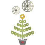 Christmas Tree & Snowflakes Thinlits Dies - Sizzix