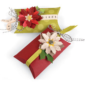 Pillow & Poinsettias Box - Sizzix Thinlits Dies 7/Pkg