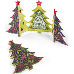 Fold-A-Long Christmas Tree Card - Sizzix Thinlits Dies 6/Pkg
