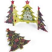 Fold-A-Long Christmas Tree Card - Sizzix Thinlits Dies 6/Pkg