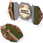 Fold-A-Long Happy Holidays Card - Sizzix Thinlits Dies 6/Pkg
