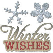 Winter Wishes Phrase & Snowflakes - Sizzix Thinlits Dies 2/Pkg