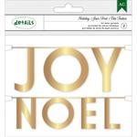Gold Joy & Noel - Holiday Details Foil Mini Word Garlands
