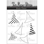 """Sassy Trees - Two Paper Divas Clear Stamps 7""""X4.5"""""""