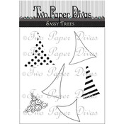 "Sassy Trees - Two Paper Divas Clear Stamps 7""X4.5"""