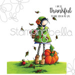 "Tiny Townie Fay Loves Fall - Stamping Bella Cling Stamp 6.5""X4.5"""