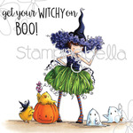 "Tiny Townie Willow The Witch - Stamping Bella Cling Stamp 6.5""X4.5"""