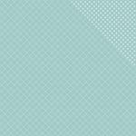 """Robin's Egg Quatrefoil/Dot - Spectrum Series 2 Double-Sided Cardstock 12""""X12"""""""