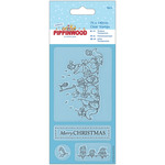 Christmas Singing - Papermania Pippinwood Mini Clear Stamps 75mm X 140mm