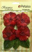 Red Vintage Velvet Peonies - Petaloo
